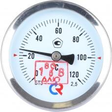 РОСМА БТ-31.211(0-120С)G1/2.46.2,5 ТЕРМОМЕТР биметалл. 63 мм, ТИП - БТ-31 корпус - хромированная сталь, шток осевой 46х6мм - нерж.сталь, 0-120C, c гильзой (латунь) G1/2, кл. 2,5