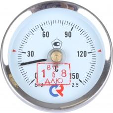 РОСМА БТ-30.010(0-150С)2,5 ТЕРМОМЕТР биметалл. 63 мм, ТИП - БТ-30 корпус - хромированная сталь, крепление - пружина, 0-150C, кл. 2,5