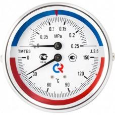 РОСМА ТМТБ-31Р.1(0-120С)(0-1,6MPa)G1/2.2,5ТЕРМОМАНОМЕТР 80 мм, ТИП - ТМТБ-31Р, температура: 0-120С, давление: 0-1,6MPa, G1/2 (снизу), корпус-сталь, механизм-латунь, длина 46мм, кл. 2,5