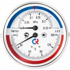 РОСМА ТМТБ-31Р.1(0-150С)(0-1,6MPa)G1/2.2,5 ТЕРМОМАНОМЕТР 80 мм, ТИП - ТМТБ-31Р, температура: 0-150С, давление: 0-1,6MPa, G1/2 (снизу), корпус-сталь, механизм-латунь, длина 46мм, кл. 2,5