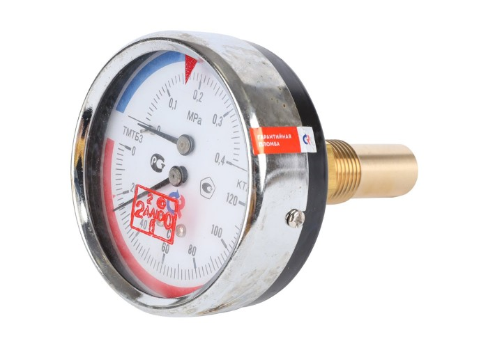 РОСМА ТМТБ-31Т.1(0-120С)(0-0,4MPa)G1/2.2,5 ТЕРМОМАНОМЕТР 80 мм, ТИП - ТМТБ-31Т, температура: 0-120С, давление: 0-0,4MPa, G1/2 (сзади), длина 46мм, кл. 2,5