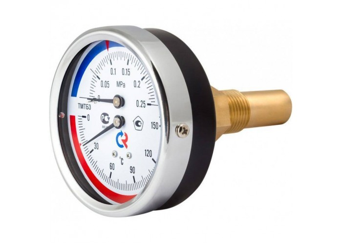 РОСМА ТМТБ-31Т.1(0-120С)(0-1,6MPa)G1/2.2,5 ТЕРМОМАНОМЕТР 80 мм, ТИП - ТМТБ-31Т, температура: 0-120С, давление: 0-1,6MPa, G1/2 (сзади), длина 46мм, кл. 2,5