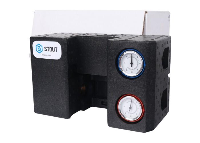 """STOUT SDG-0002 Насосная группа с термостатическим смесительным клапаном 3/4"""" без насоса"""