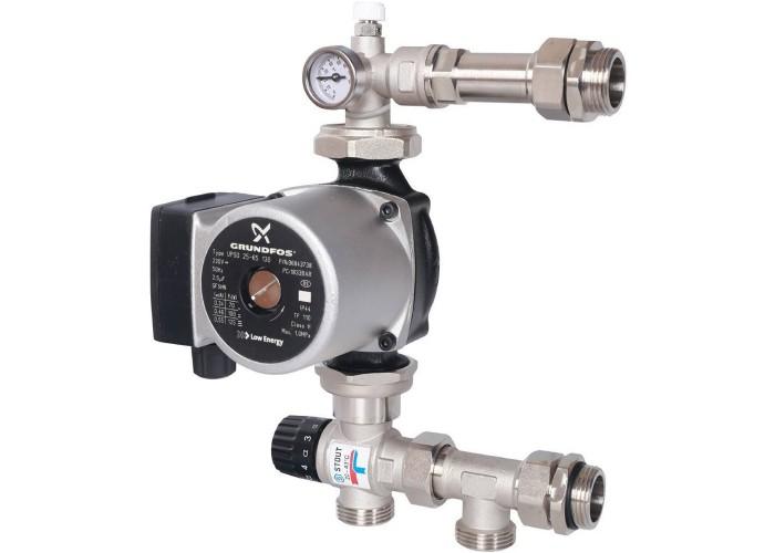 STOUT Насосно-смесительный узел с термостатическим клапаном 20-43°C, с насосом UPSO 25-65, 130 mm