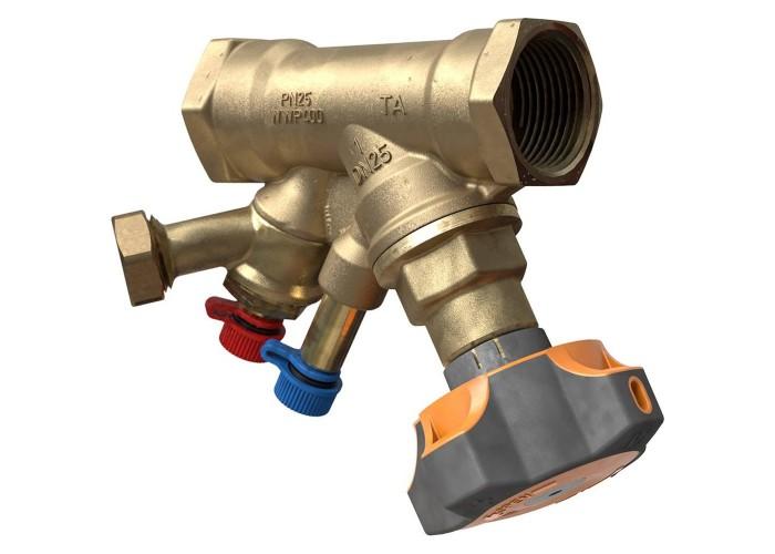 HEIMEIER Клапан балансировочный ручной STAD с дренажем, внутренняя резьба, DN 32, Kvs = 14,2 м3/ч, Tmax = 120°C, PN25, материал корпуса - AMETAL