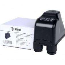 """STOUT SCS-0001 Реле давления для водоснабжения PM5G, 1-5 бар, 1/4"""", с накидной гайкой."""