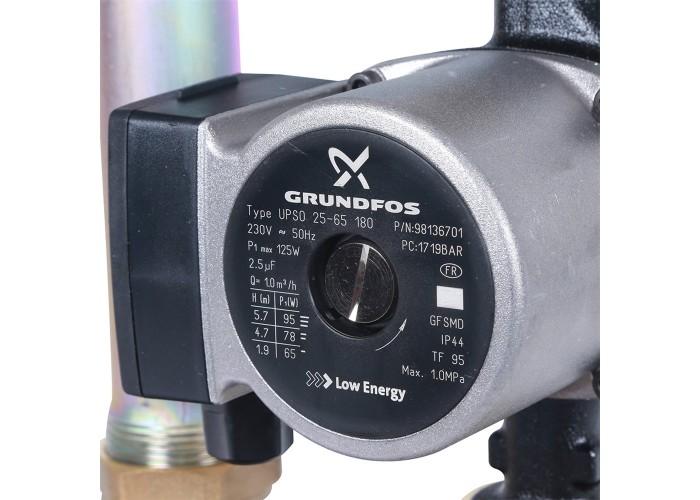STOUT SDG-0038 Насосная группа с теплообменником 18 пластин,с насосом Grundfos UPSO 25-65 в теплоизоляции