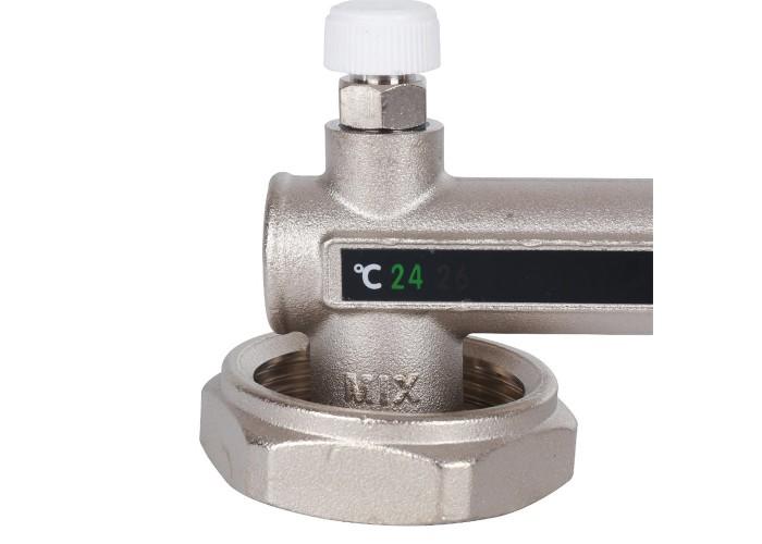 STOUT Насосно-смесительный узел с термостатическим клапаном 20-43°C и жидкокристаллическим термометром, без насоса в Белгороде