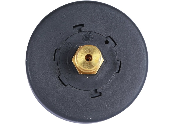 "STOUT SIM-0007 Манометр аксиальный с указателем предела. Корпус Dn 63 мм 1/4"", 0...4 бар, кл.2.5"