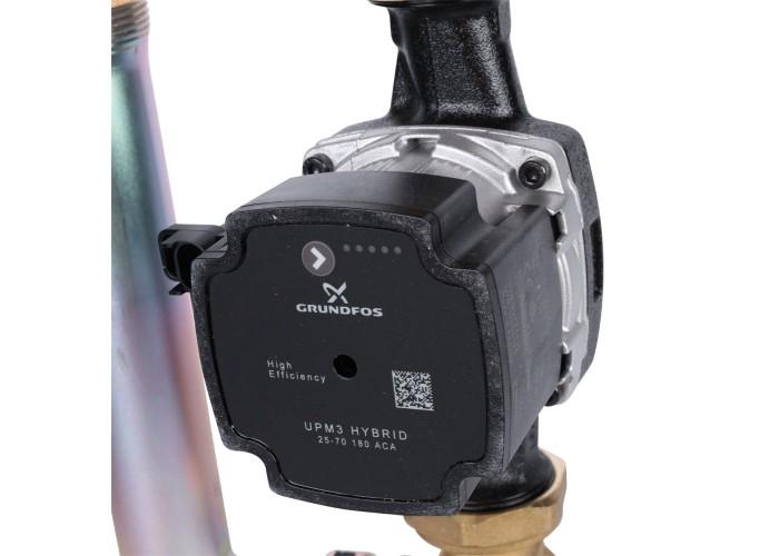 """STOUT SDG-0002 Насосная группа с термостатическим смесительным клапаном 1""""с насосом Grundfos UPM3 Hybrid 25-70 в Белгороде"""