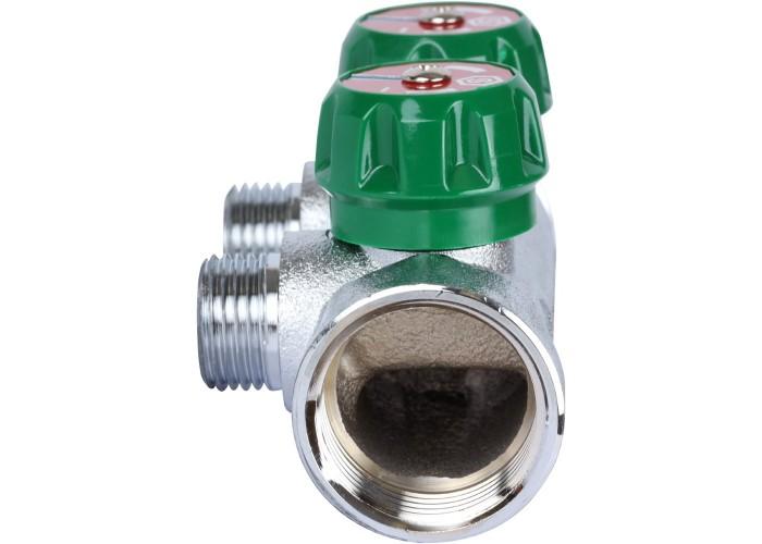 """STOUT SMB-6850-011202 STOUT Коллектор регулирующий 1"""", 2 отвода 1/2"""""""