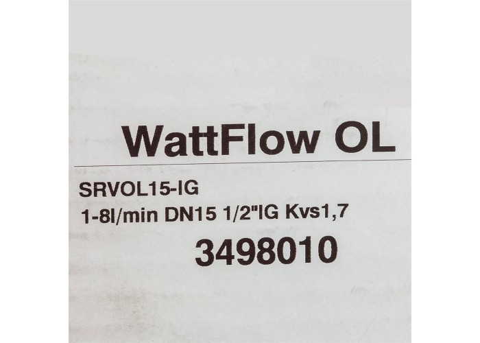 Watts Вентиль ВВ 1/2' баланс ДУ 15