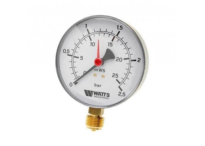 "Watts F+R200(MDR) 100/25x1/2"" Манометр радиальный 100мм, 0-25 бар"