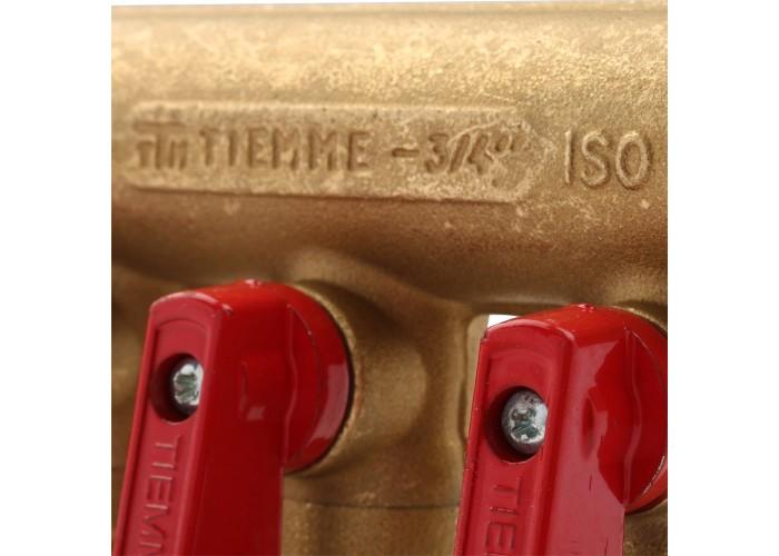 TIEMME 3/4х1/2 Коллектор распределительный с шаровыми кранами на 3 выхода