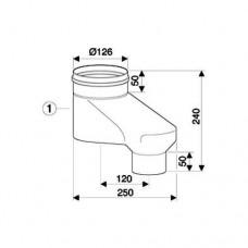 Bosch Вертикальный адаптер DN80/80 на DN80/125