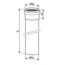Удлинение труб L=1000 мм AZ 410 Ду 80
