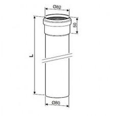 Bosch Удлинение труб L=2000 мм AZ 411 DN80