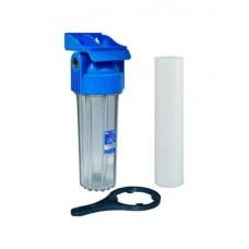 "AquaFilter AQM Корпус 10"" вход 1/2"" FHPR12-B1-AQ фильтр в сборе (картридж, ключ, кронштейн)"